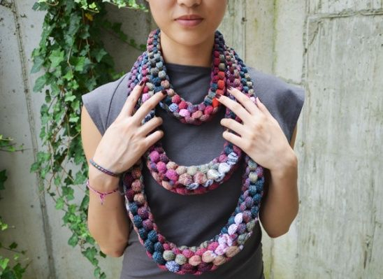 DIY Knitted Necklace - Amazing