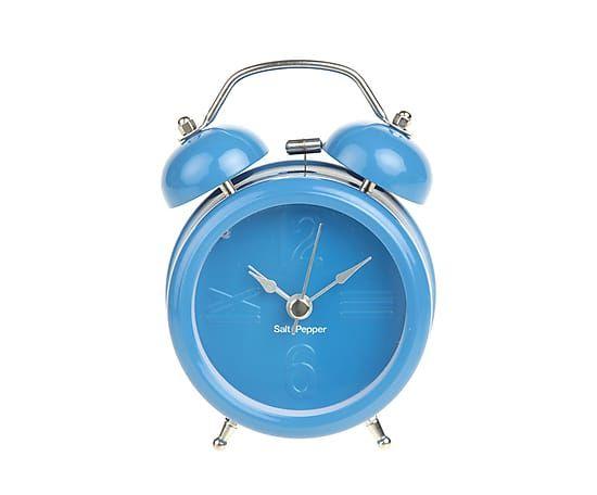 Будильник ZONE - окрашенный металл - синий - 12,5х9х5