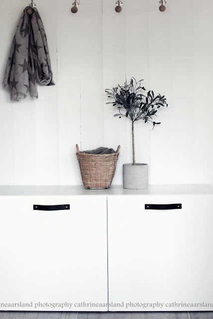 Genius diy ikea hack - add leather handles to ikea besta … Beautiful