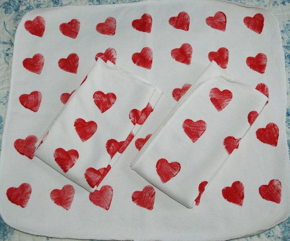 Heart bamboo insert for clothdiapers