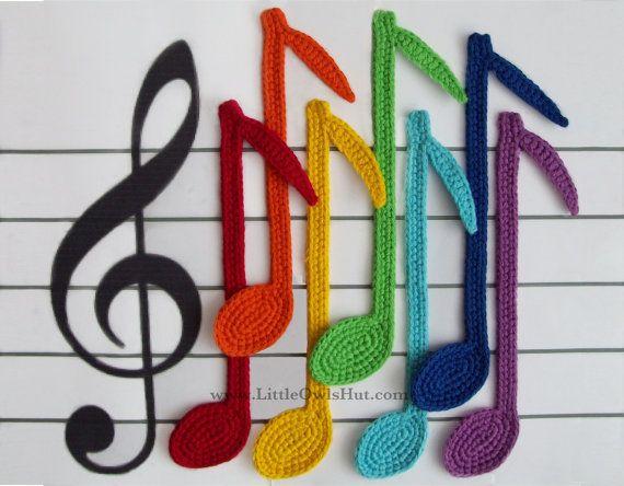 Notes Bookmark Crochet Pattern PDF file $1.97