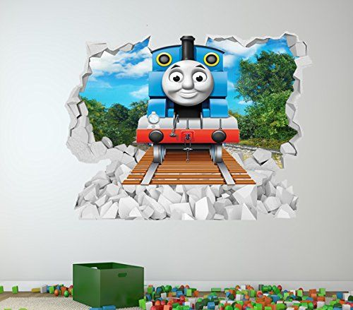 Thomas The Tank Engine Full Colour Wall Sticker Girls Boys Bedroom C327 Size Large