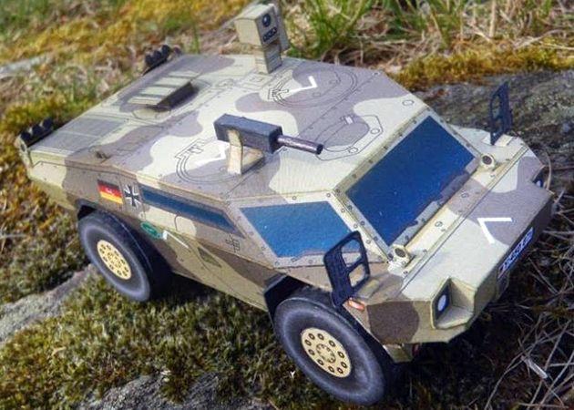 Mô hình giấy Armoured Reconnaissance Vehicle Fennek (1-43) thiết kế bởi Rawen   Papercraft Armoured Reconnaissance Vehicle Fennek (1-43) create by Rawen.
