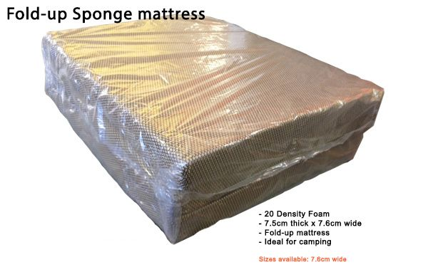 Fold-up foam mattress - single