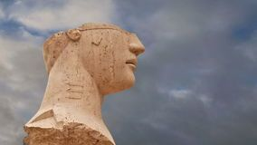 Το άγαλμα στη archeological περιοχή του Agrigento, Σικελία, Ιταλία απόθεμα βίντεο