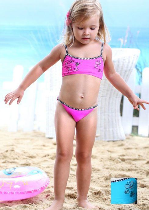 Купальник детский раздельный модель SWEET BUTTERFLY цвет: розовый  Бренд: Keyzi  Артикул: 92_116SWEETBUTTERFLY
