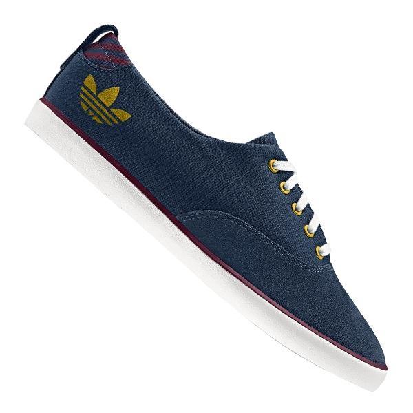 Adidas Azurine Low Sneaker Wmns Blau Weiss Gold