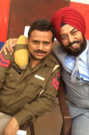 Vindu Dara Singh in Turban for Punjabi Movie Jatt James Bond