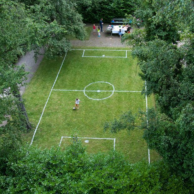 Wiedinghof Football Field by Christoph Schindler