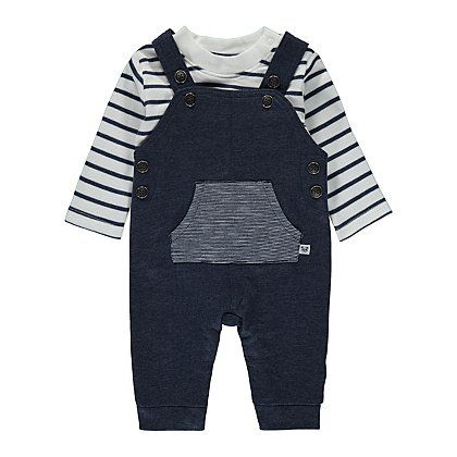 2 Piece Dungarees and Top Set | Baby | George at ASDA