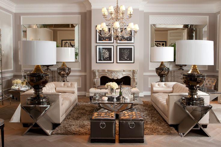 Salon w stylu modern classic glamour by Eichholtz
