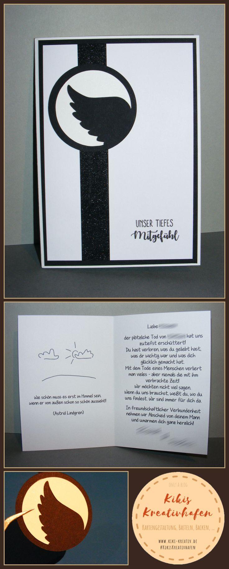 #Bastelecke: #Trauerkarte #12 (#Engelsflügel) — #Kartengestaltung #Karte  – Ricarda Rickert