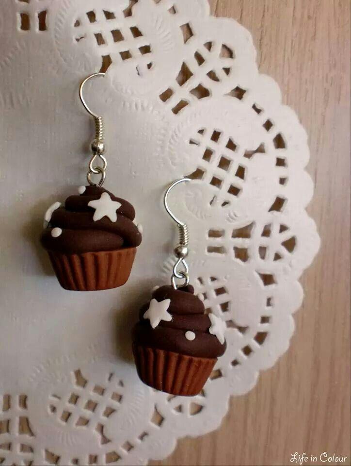 Cupcakes Pan di Stelle realizzati in fimo da Life in Colour - Accessori Handmade