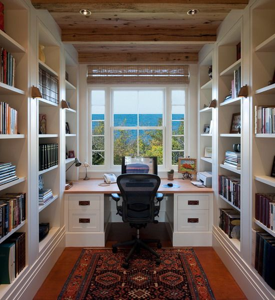 Small Home Office Design: 17 Best Ideas About Small Home Libraries On Pinterest