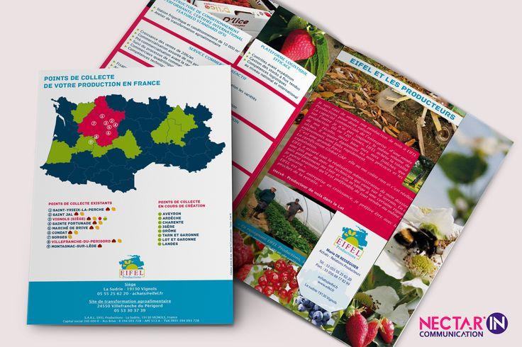 Pochette à rabats pour Eifel Production. Design, mise en page et photos by Nectar'In Communication.