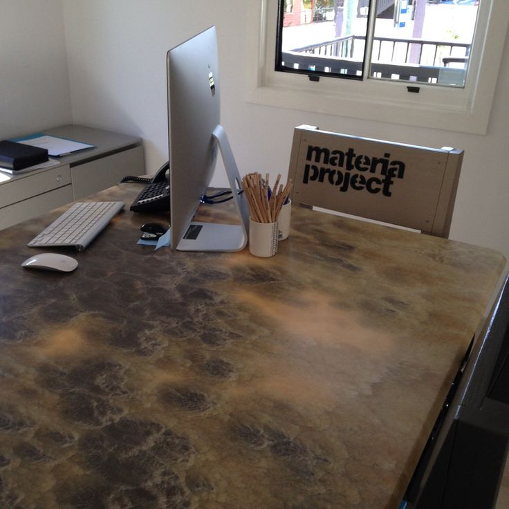 Onyx desk top. Part of our stone furniture range which we manufacture to order. www.acestone.com.au