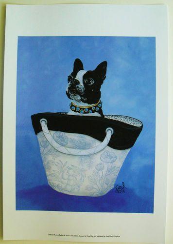 $23.50  Animal DOG Fashion Handbag Purse ART Print Boston Basket BY Carol Dillon   eBay #dog #pets #walldecor