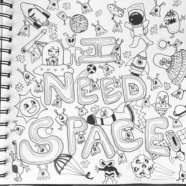 Statement Clutch - Creative doodle by VIDA VIDA 65Kj4sj