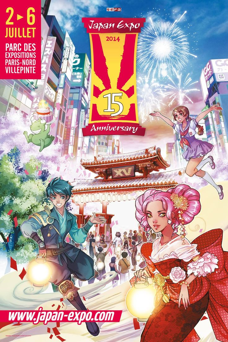 Japan Expo Paris celebrating 15 years on 2 to 6 July 2014.