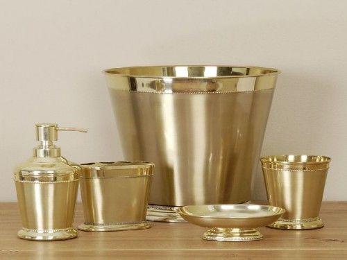 gold bathroom accessories delonhocom