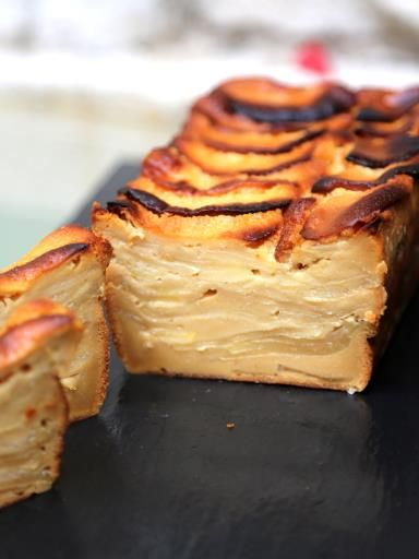 Gâteau invisible aux pommes et au caramel au beurre salé