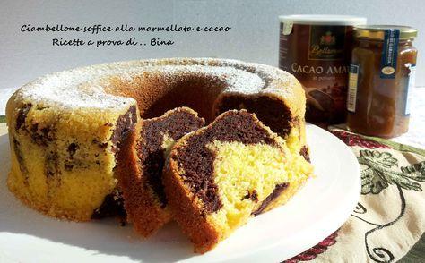 Ciambellone+soffice+alla+marmellata+e+cacao