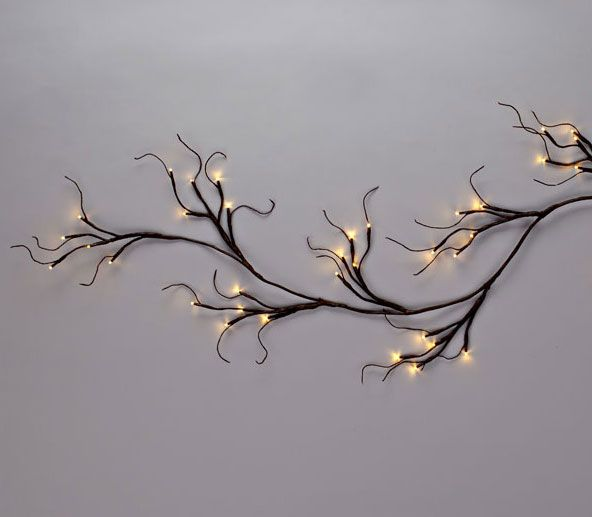 Battery Operated Lighted Garland 6 Feet 60 Warm White