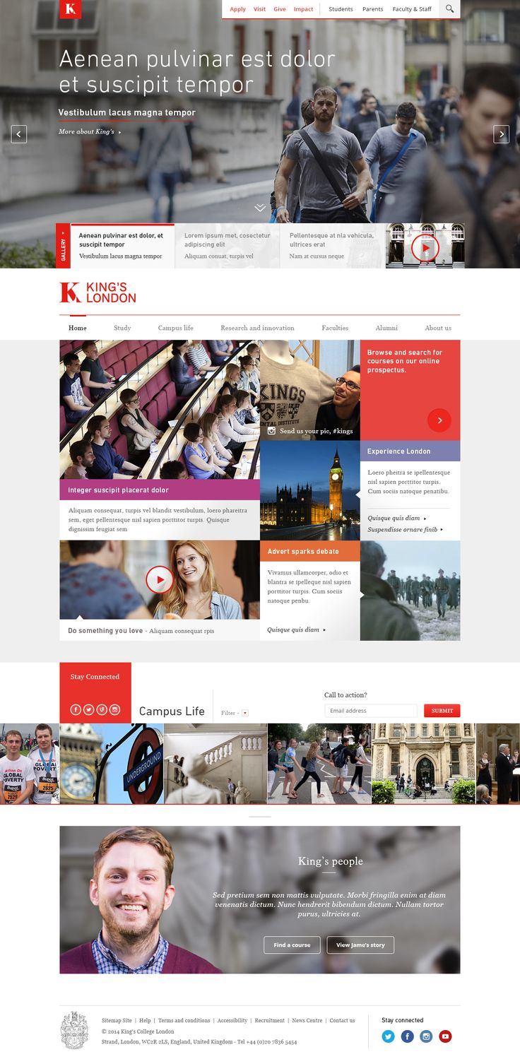 Kings college london homepage1
