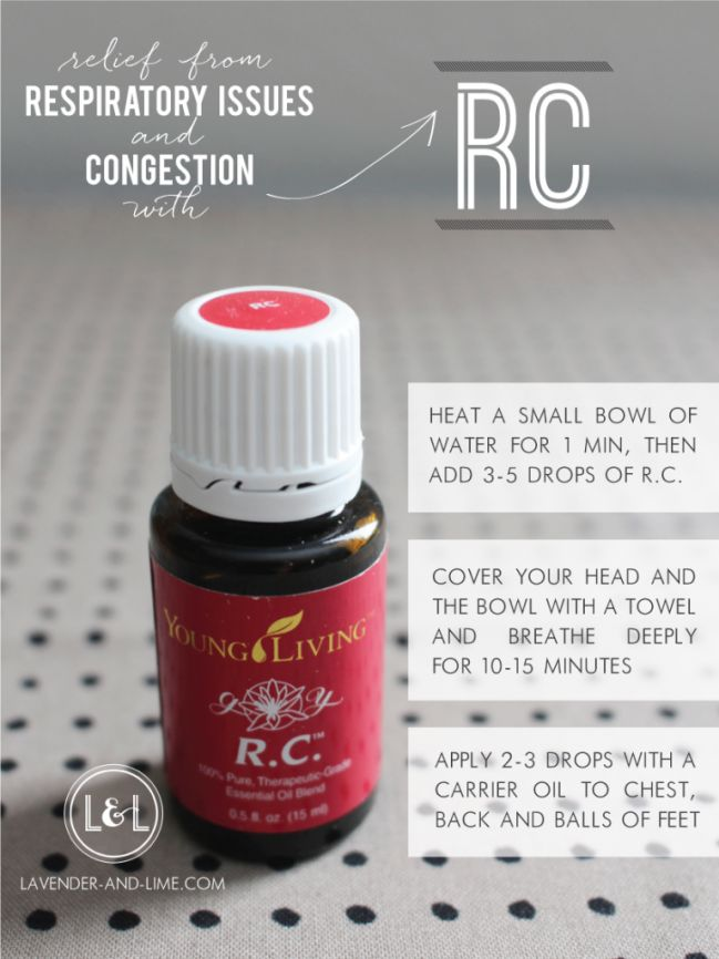 RC essential oil blend, Young Living, fighting colds and coughs naturally, from the team at Lavender & Lime