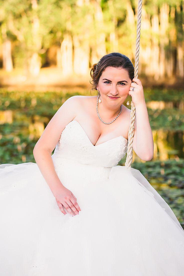 Bridal portrait | Giant swing by the lake | Coolibah Downs Wedding | Eliza Davis - Gold Coast Wedding Photographer |