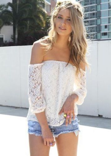 White Lace Off-shoulder Top | The Style Basket - ON SALE NOW