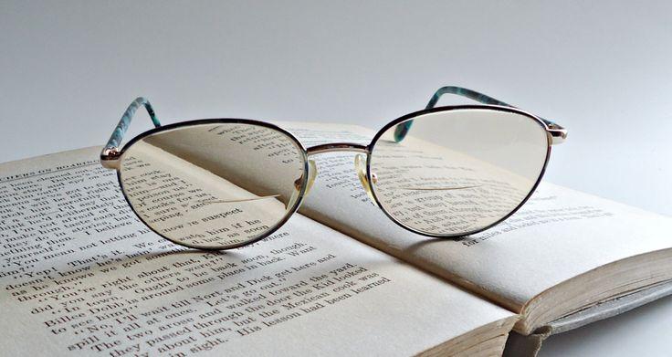 Vintage 1980's  Tortoise Frames Blue Black Eyeglasses Eyewear Women's by treasurecoveally on Etsy