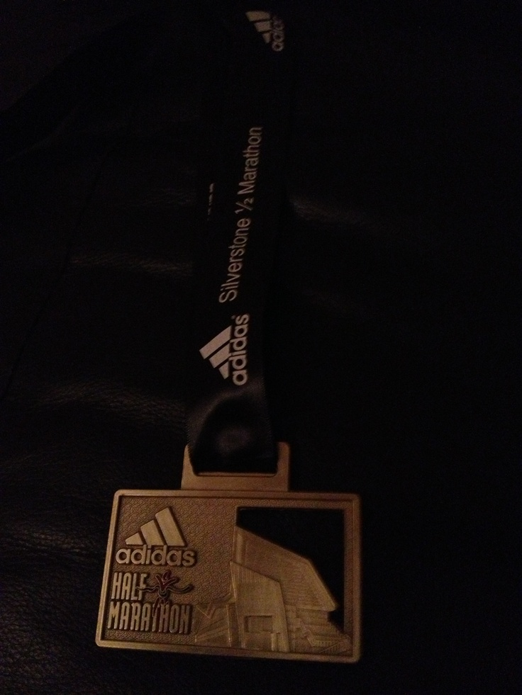 My Silverstone Half Marathon medal March 2013..  Mine in 2014?