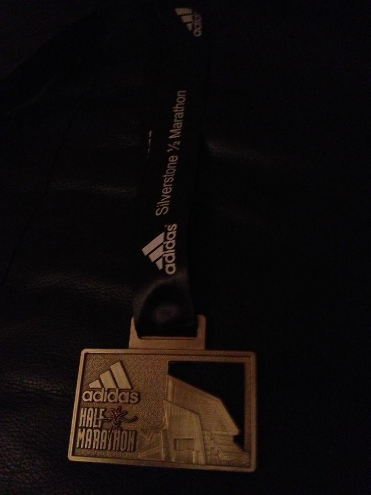 My Silverstone Half Marathon medal March 2013