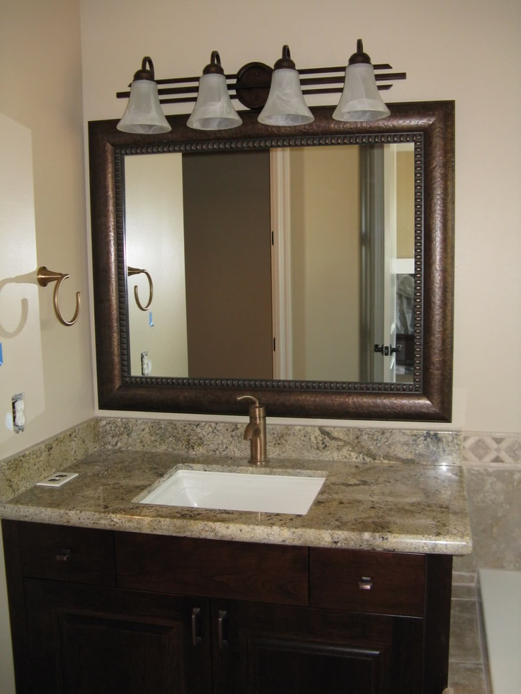 These Are Awesome Frames That Go Over Your EXISTING Mirror Framed Bathroom