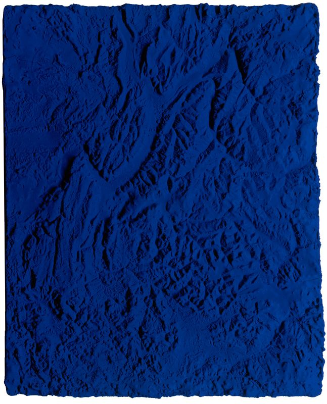 """Yves Klein, Relief planetaire, """"Terre"""" (RP 20), 1961"""