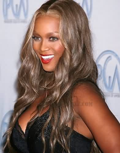 amber rose with Tyra Banks Long Hair