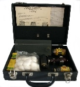 Genuine, 1950s era Sirchie Portable Fingerprinting Kit. Kit includes: Authentic FBI Fingerprint Cards, FBI Instructions, Glas Slab for Rolling Ink, Roller, Sirchie Fingerprint Ink, Magic Cleaner, Slab and Roller Cleaner, and metal fingerprint card holder.  This is a real bargain and a must have for display in the office of a law enforcement professional, law enforcement agency, or museum.: The Office