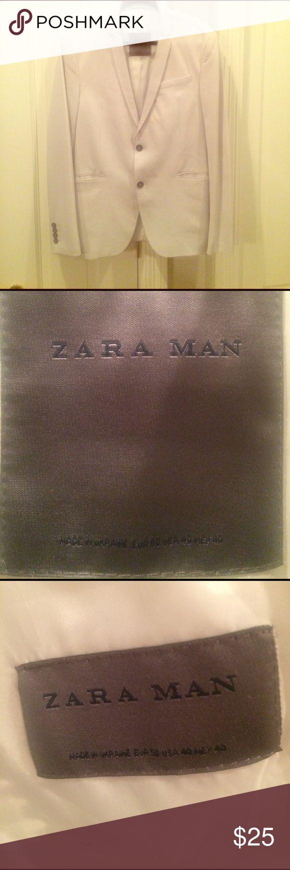 ZARA MAN - Off White Blazer ZARA MAN - Off White Blazer - Size: US 40 EUR 50 - Super soft & VERY lightweight. Zara Suits & Blazers Sport Coats & Blazers