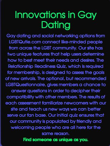Gay dating site for serious relationship