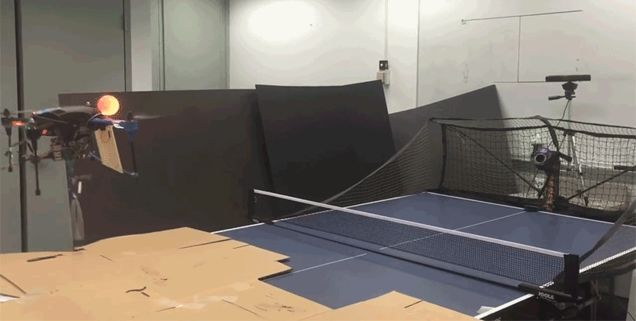 It Won't Be Long Before Drones Start Winning Olympic Gold Medals In Table Tennis