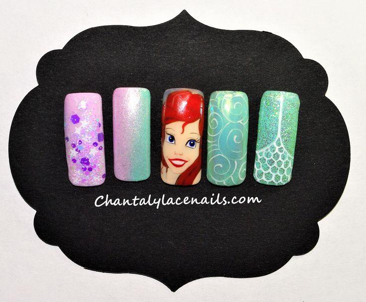 Ariel Disney princess/Disney nail art