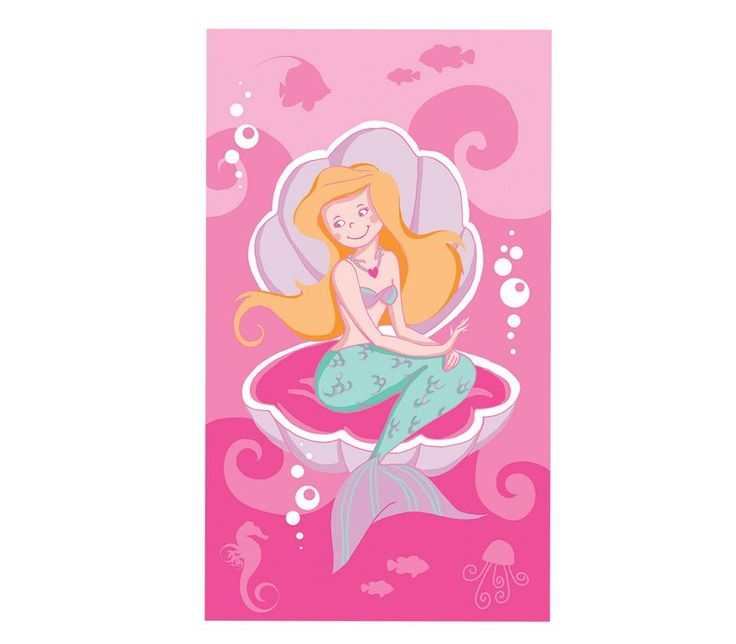 Πετσέτα θαλάσσης παιδική Mermaid από 100% βαμβάκι.