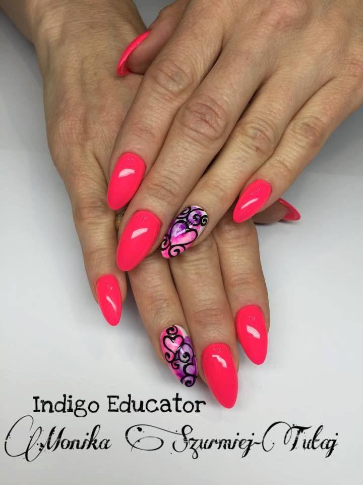 Dreams Come True Gel Brush z Blur Effect od Indigo Educator Moniki Szurmiej Tutaj  #nails #nail #red #pink #wow #indigo #omg #heart
