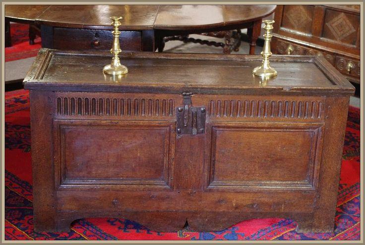 Elizabethan oak coffer. Circa 1560 www.robinwheatley-antiques