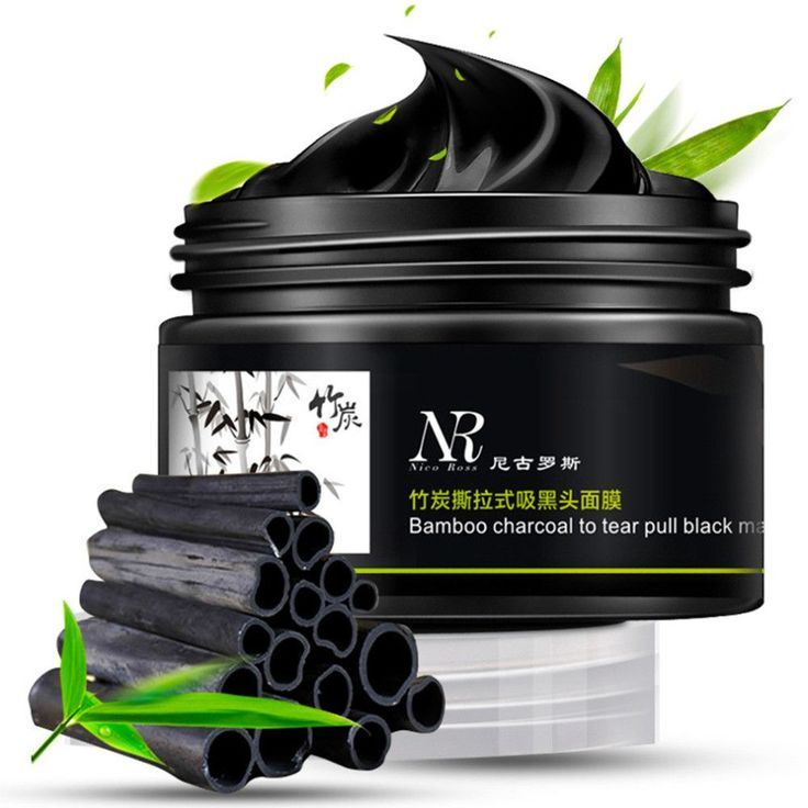 Bamboo Charcoal Facial Tear Pull Nose Blackhead Peel-Off Mask