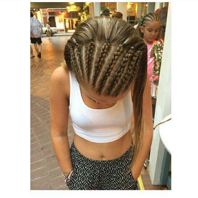 Half head braids