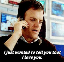 """""""I just wanted to tell you that I love you"""" Marshall from JJ Abrams' Alias. Love love love."""