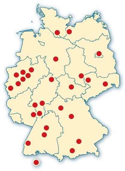 Spezialkliniken Deutschland und Schweiz: In diesen Städten gibt es Krankenhäuser, die sich besonders gut um schwerbrandverletzte kümmern können oder spezialisierte Abteilungen für brandverletzte Kinder haben.