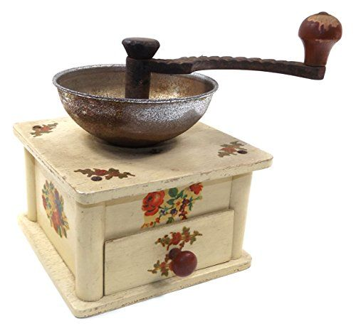 Buy Vintage Wooden Cottage Chic Hand Crank Coffee Grinder Mill w/ Flower Decals - Topvintagestyle.com ✓ FREE DELIVERY possible on eligible purchases